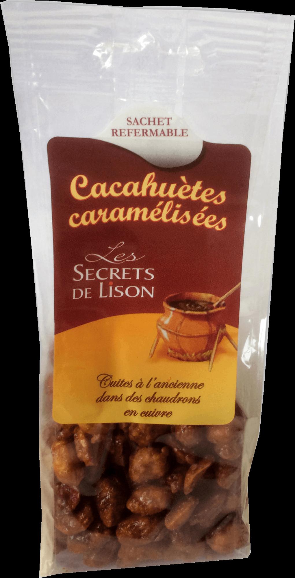Les cacahuètes caramélisées en sachet